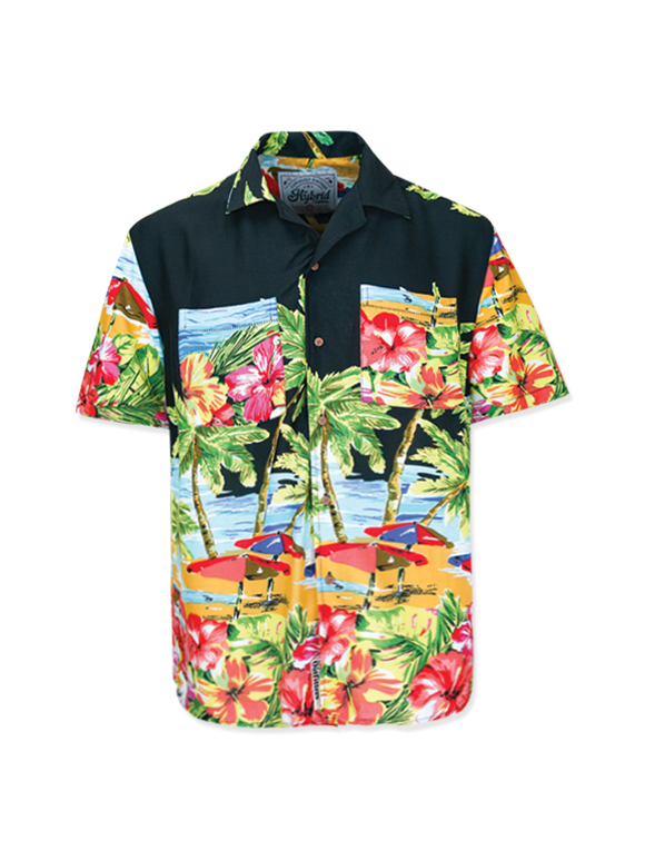 Men's Aloha Print Oversized Shirt