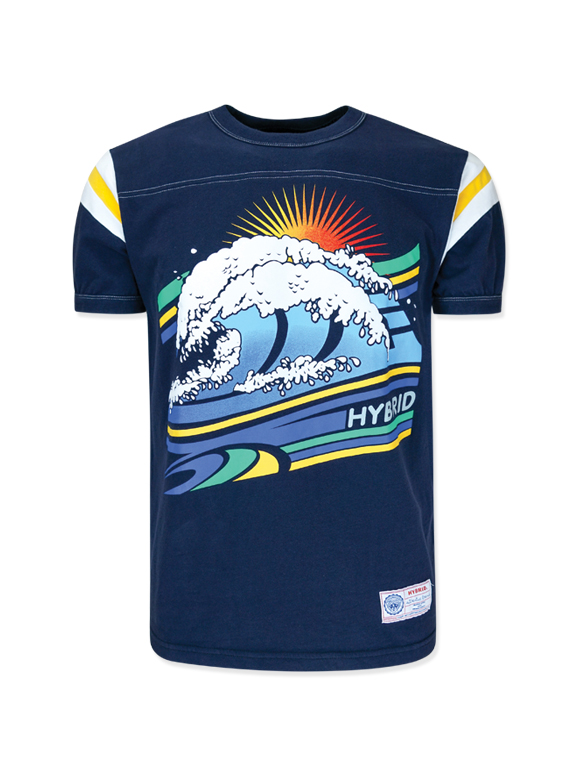 Men's Wave Screen Vintage T-shirt