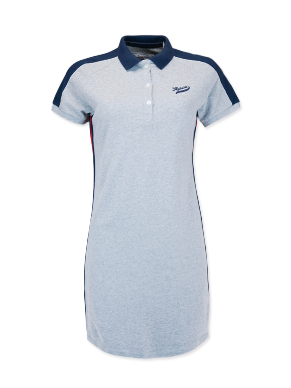 Women's Sporty Color Block Polo Dress