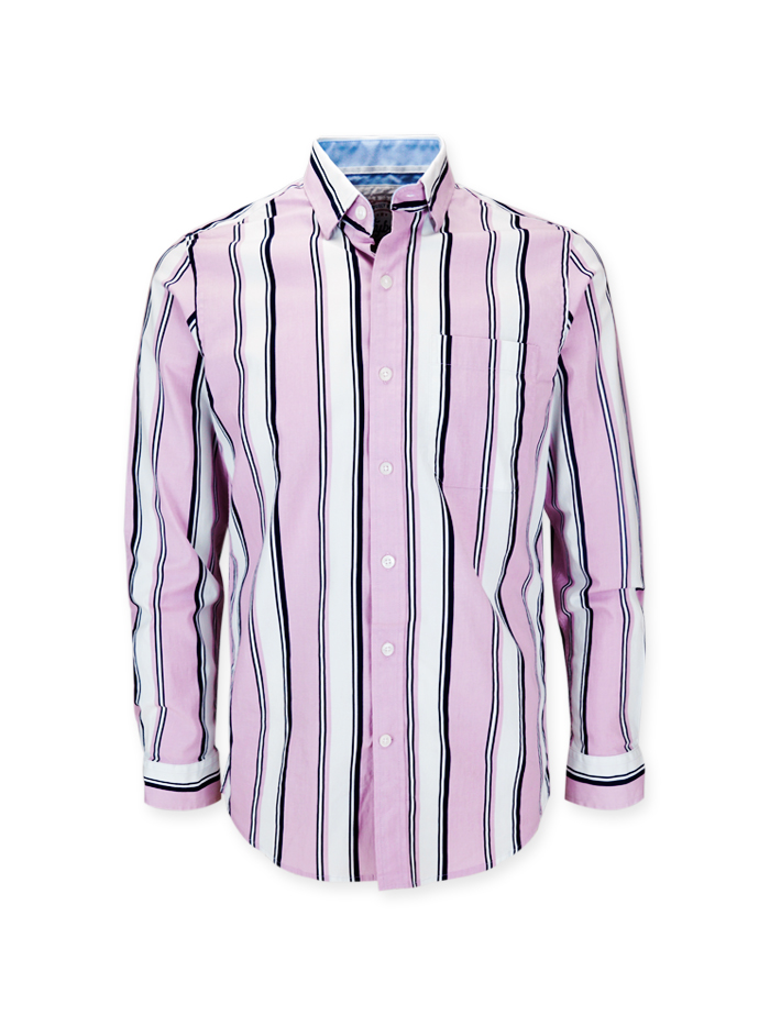 Men's Striped Long Sleeve Shirt