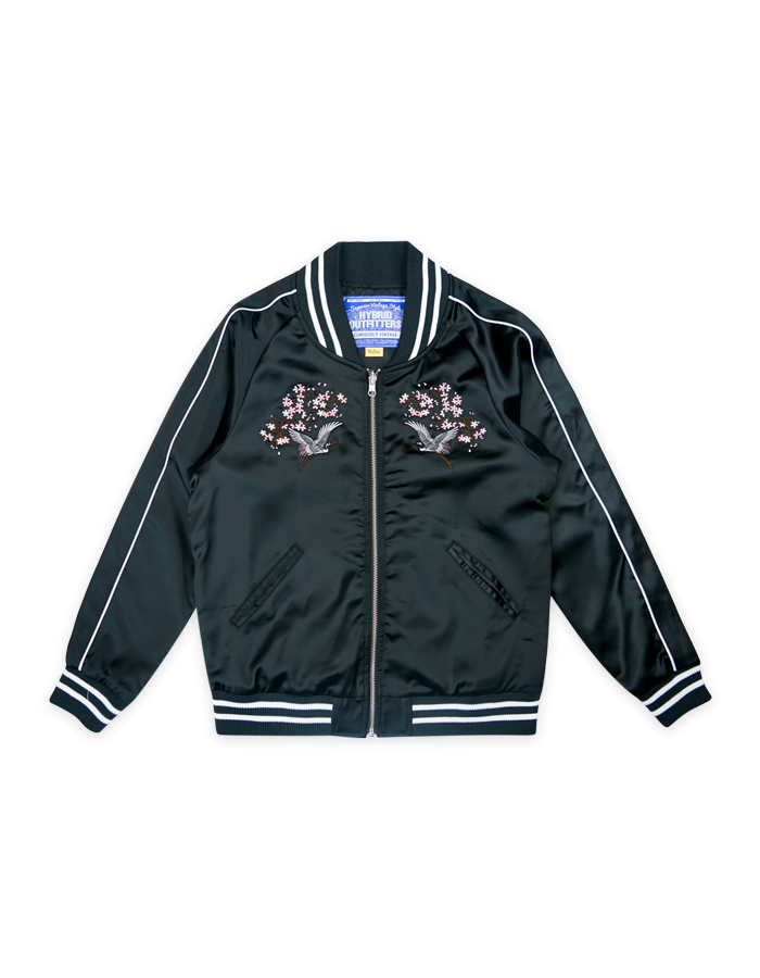 WOMEN ORIENTAL EMBROIDERED BOMBER JACKET