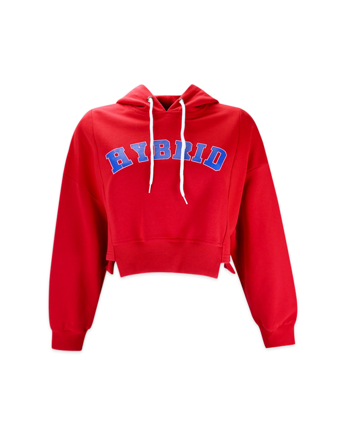Women's Sporty Hoodie Crop Top