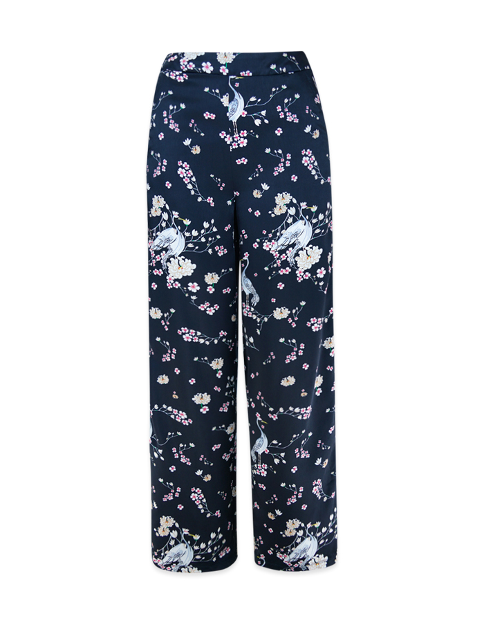 Women's Floral Print High Waist Wide Leg Pants