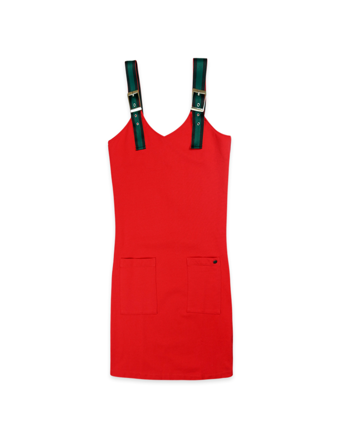 Women's Sporty Mini Dress in Red