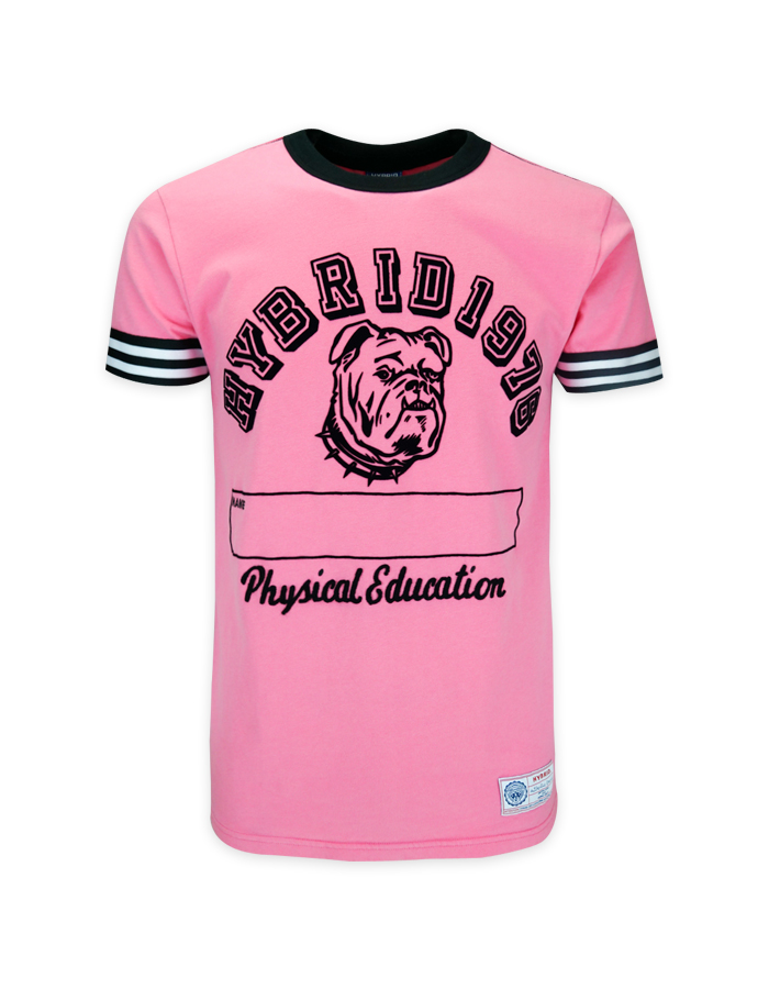 Men's Bulldog Vintage in Pink T-Shirt