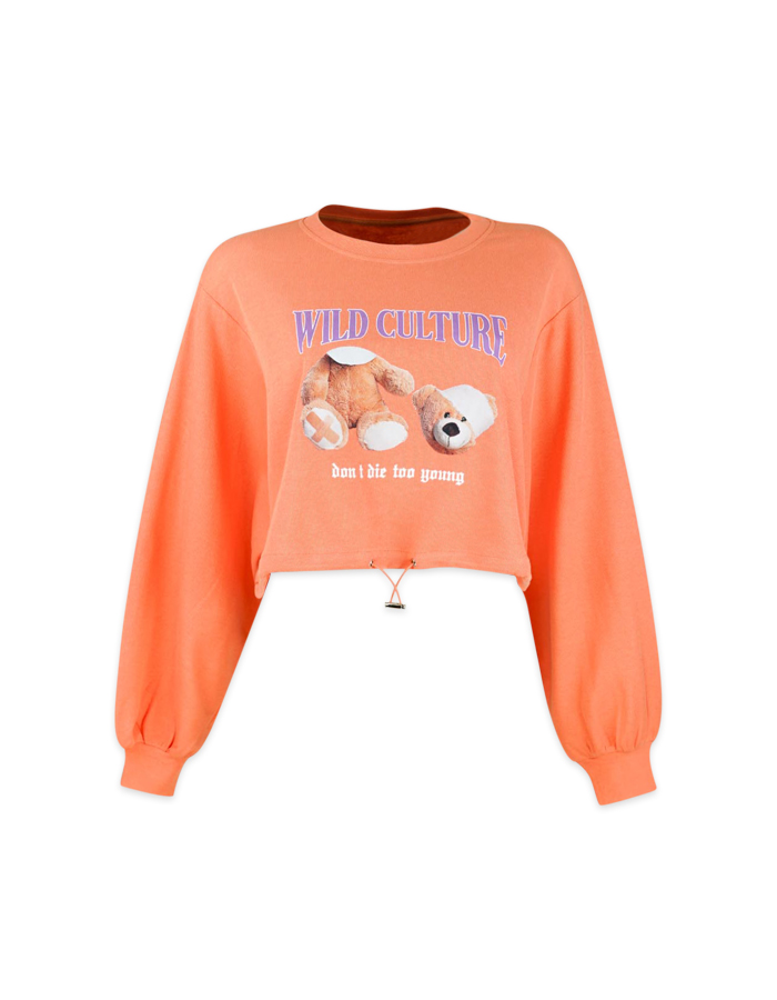 Women's Cropped Oversize Sweatshirt