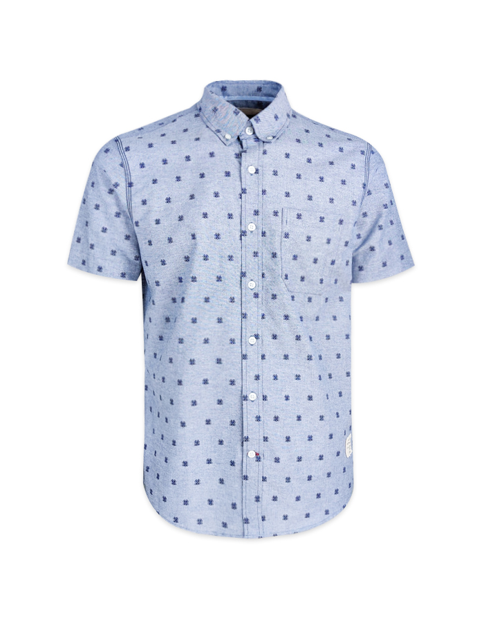 Men's HYB Logo Print Short Sleeve Shirt