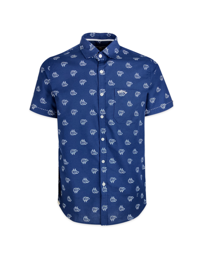 Men's little Sheep Prints Short Sleeve Shirt