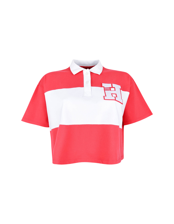 Women's Color Block Polo Crop